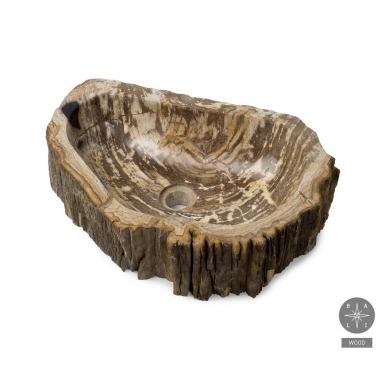 Fosilijos praustuvas , suakmenėjęs medis  H14 W34 L51cm