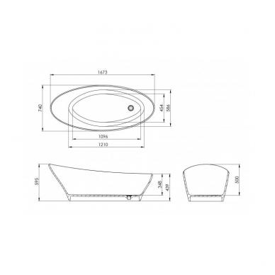 Akmens masės vonia Cara 3