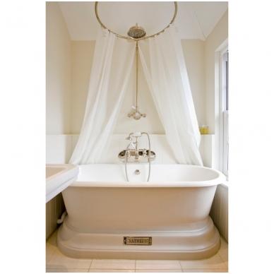 Apvalus, bronzinis, vonios arba dušo užuolaidos karnizas 2