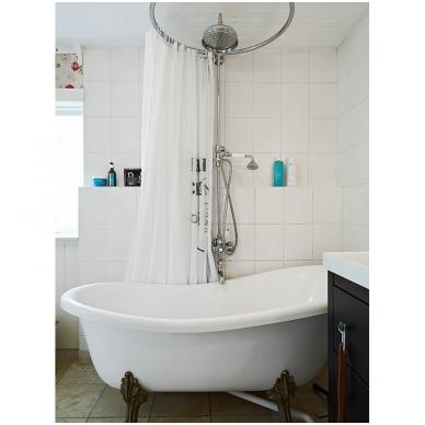 Apvalus, bronzinis, vonios arba dušo užuolaidos karnizas 3