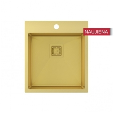 Aukso spalvos nerūdijančio plieno plautuvė 450 x 510 mm