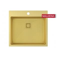Aukso spalvos nerūdijančio plieno plautuvė 550 x 510 mm