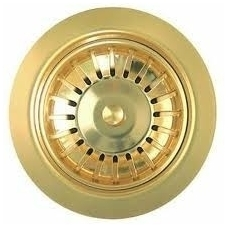 Aukso spalvos virtuvės plautuvės sifono dangtelis