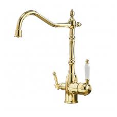 Aukso spalvos virtuvinis maišytuvas su filtruoto vandens kraneliu  89544G