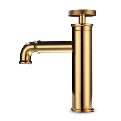 Aukso spalvos industrinio stiliaus maišytuvas 89546G