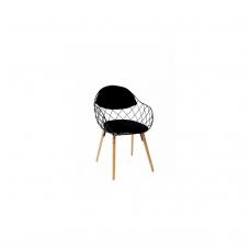 Juoda metalinė kėdė 6329