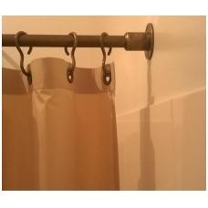 Bronzinis dušo užuolaidų karnizas