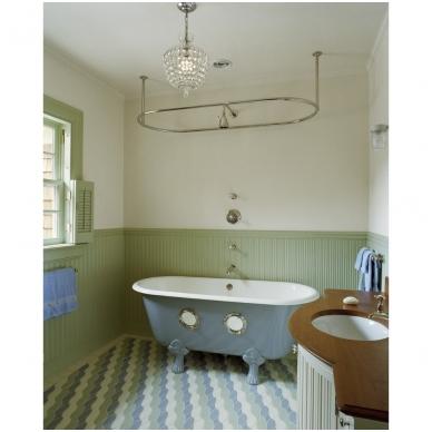Bronzinis, ovalus vonios užuolaidos karnizas 3