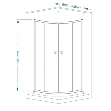 Dušo kabina HLS900 2