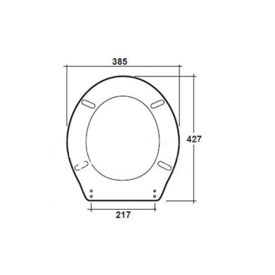Klozeto dangtis C711/2 2