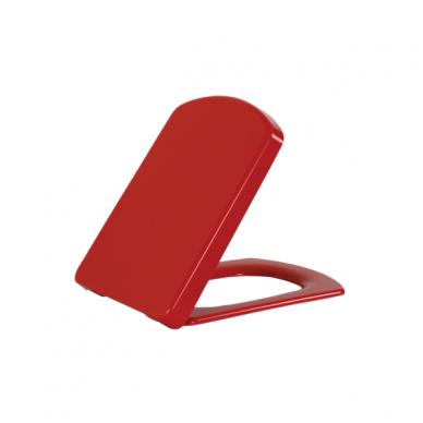 Klozeto dangtis KC3181 raudonas