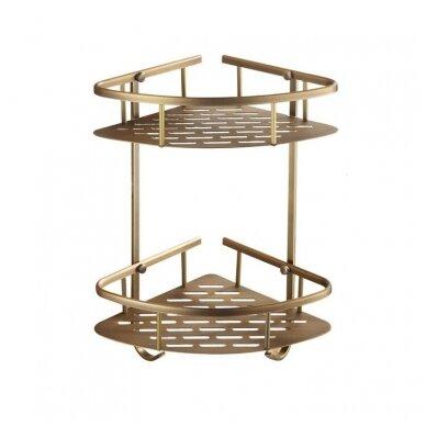 Kosmetinis veidrodis dvipusis didina 3 kart su led apšvietimu chromas, auksas, bronza, juodos spalvos 89401G 8