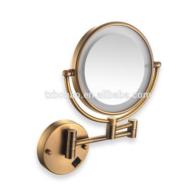 Kosmetinis veidrodis dvipusis didina 3 kart su led apšvietimu chromas, auksas, bronza, juodos spalvos 89401G 3
