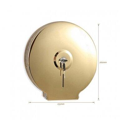 Kosmetinis veidrodis dvipusis didina 3 kart su led apšvietimu chromas, auksas, bronza, juodos spalvos 89401G 9