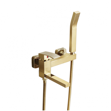 Matinio žalvario, sendinto aukso potinkinis dušo komplektas  89129BG 6