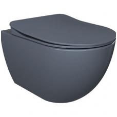Pakabinamas, bazalto spalvos klozetas FE320