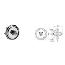 Potinkinis termostatinis dušo maišytuvas Graff 2194140
