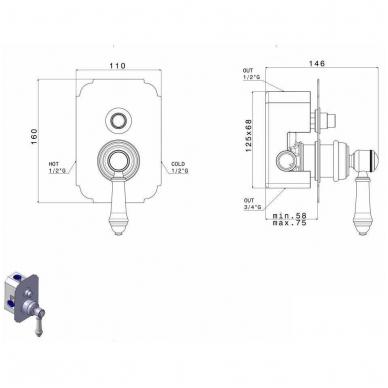 Potinkinis dušo maišytuvas LO41863CR 2