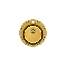Apvali auksinė virtuvinė plautuvė CLINT 210