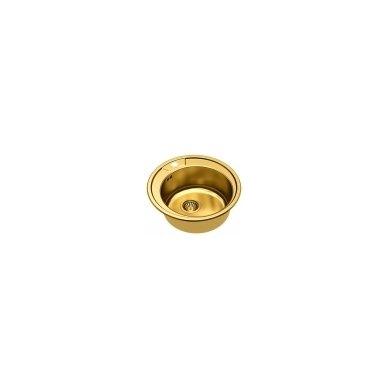 Apvali auksinė virtuvinė plautuvė CLINT 210 2