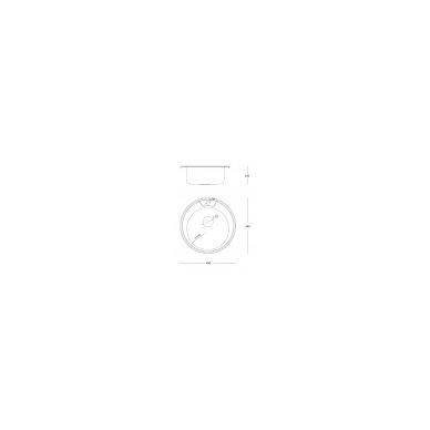 Quadron - Apvali auksinė virtuvinė plautuvė CLINT 210 3