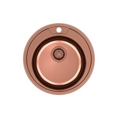 Quadron - Apvali auksinė virtuvinė plautuvė CLINT 210 4