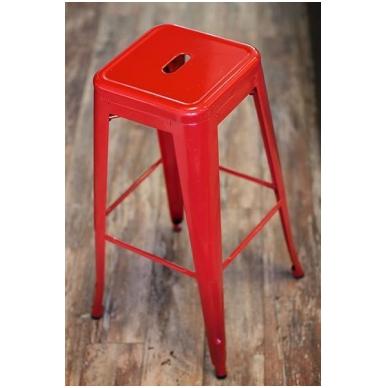 Raudona metalinė kėdė BS-825B