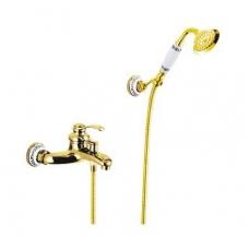 Retro, klasikinis, bronzinis vonios maišytuvas su dušeliu 9107