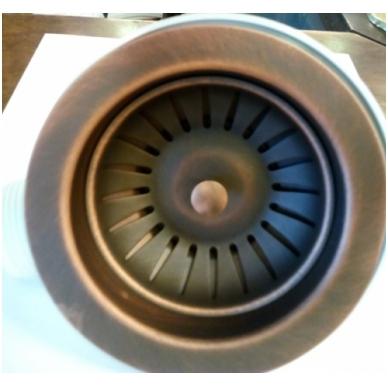 Sendinto žalvario spalvos virtuvės plautuvės sifono dangtelis su mech. atidarymu 2