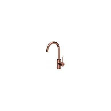 Stačiakampė auksinė virtuvinė plautuvė su maišytuvu pagamintas iš nerūdijančio plieno (SteelQ), padengtas PVD danga.570 mm x 450 mm 3