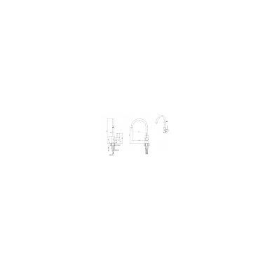 """Stačiakampė auksinė virtuvinė plautuvė""""Quadron RAY 110 """" su maišytuvu pagamintas iš nerūdijančio plieno (SteelQ), padengtas PVD danga.490 mm x 470 mm x 180 4"""