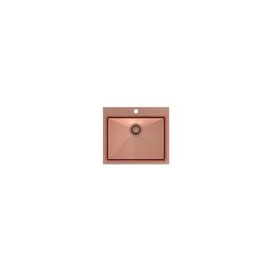 """Stačiakampė auksinė virtuvinė plautuvė""""Quadron RUSSEL 110 """"  pagamintas iš nerūdijančio plieno (SteelQ), padengtas PVD danga 4"""