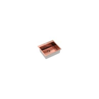 """Stačiakampė auksinė virtuvinė plautuvė""""Quadron RUSSEL 110 """"  pagamintas iš nerūdijančio plieno (SteelQ), padengtas PVD danga 5"""