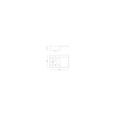 """Stačiakampė auksinė virtuvinė plautuvė""""Quadron RUSSEL 111"""" pagamintas iš nerūdijančio plieno (SteelQ), padengtas PVD danga, 780 mm x 490 mm x 190 3"""