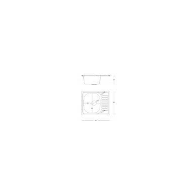 """Stačiakampė auksinė virtuvinė plautuvė""""Quadron SYLVESTER 116 """" su maišytuvu, pagamintas iš nerūdijančio plieno (SteelQ), padengtas PVD danga.580 mm x 485 mm 4"""