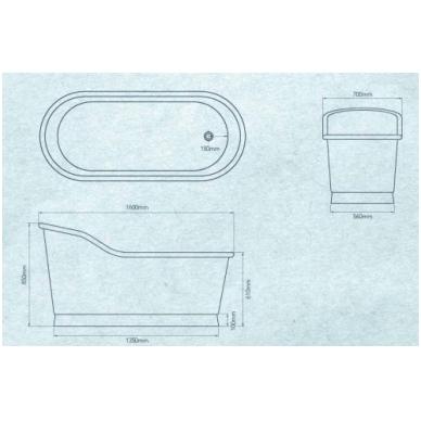 Varinė vonia Slipper 3