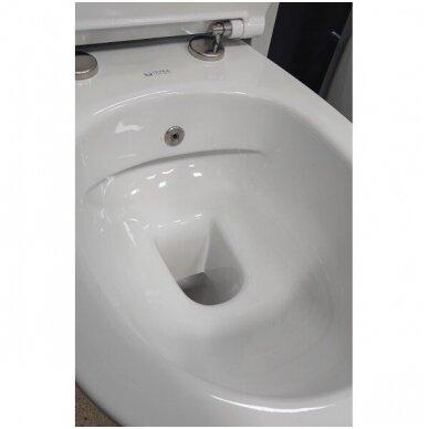 WC pakabinamas SENTIMENTI su bidė funkcija, bekantis su plonu lėtaeigiu dangčiu