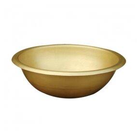 Žalvarinis, bronzinis praustuvas pastatomas arba įleidžiamas 421*421*15cm, 1,8kg BR062