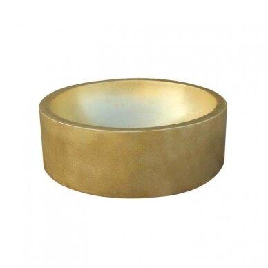 Žalvarinis, bronzinis praustuvas pastatomas arba įleidžiamas 421*421*15cm, 1,8kg BR062 2
