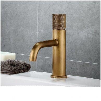 Žalvarinis, bronzinis praustuvas pastatomas arba įleidžiamas 421*421*15cm, 1,8kg BR062 7